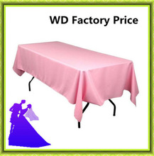 10pcs  Rectangle pink table cloth  For Banquet  from nantong wedding Free shipping