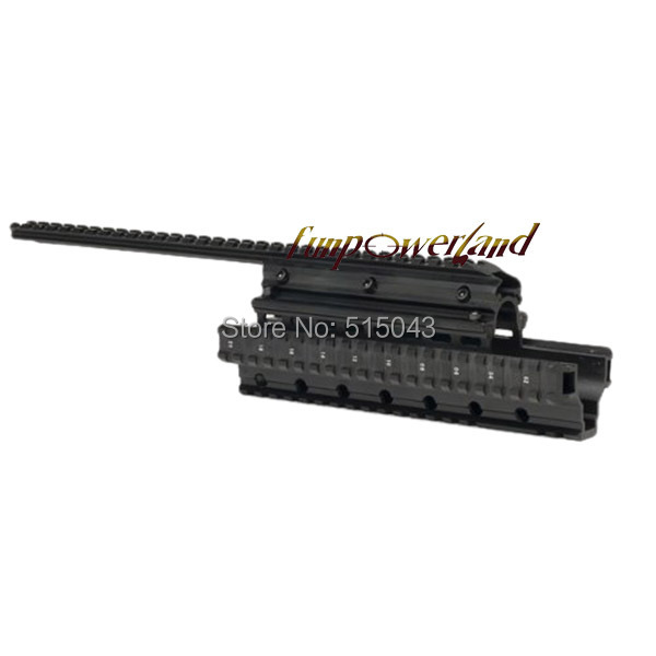 Funpowerland Aluminum Saiga 12-Gauge Accessory Mount System Forend with 2 Top Slots Attach Optics and Accessories<br>
