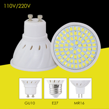 220V 110V Led Bulb Lamp GU10 E27 MR16 Base Light Power 8W 6W 4W High Bright Spotlight Focos Bombillas Led For A++ Home Lighting(China)