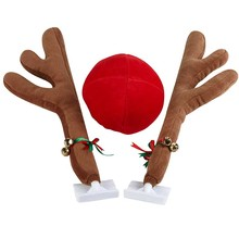 New Arrival Free Shipping  Reindeer Vehicle Costume with Jingle Bells Car Decoration