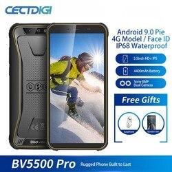 """Blackview BV5500 pro IP68 Водонепроницаемый 4G мобильный телефон 3 ГБ + 16 Гб 5,5 """"экран 4400 мАч Android 9,0 пирог двойной сим-прочный смартфон"""