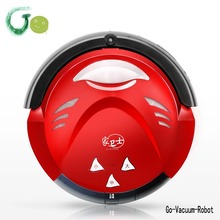 Smart red mop vacuum cleaner robot for home Anti collision,Anti fall,Automatic charging,Virtual wall,Remote control cleaner 618F(China)