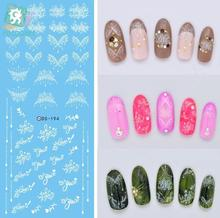 Rocooart DS194 DIY Nail Water Transfer Nails Art Sticker White Water Drops Neck Nail Wraps Sticker Watermark Fingernails Decals(China)