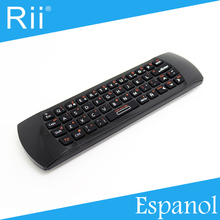 Free DHL - Original Rii i25  2.4G Wireless Spanish(Espanol) Version Mini Keyboard/Air Mouse High Quality - 30pcs