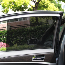 2Pcs Adjustable Adjustable Auto Car Side Rear Window Sun Shade Black Mesh Car Cover Visor Shield Sunshade UV Protection Sunshade(China)