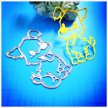 Dog Metal cutting dies for Scrapbook album invitation home decoration embossing stencils cut dies