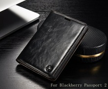 Luxury Phone Cases Original CaseMe Genuine Leather Book Style Magnetic Flip Wallet Case Cover For Blackberry Passport 2 Pro