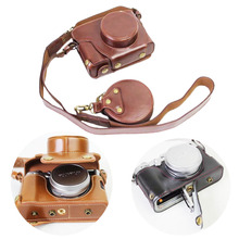 Luxury PU Leather Camera Case For Fujifilm X100F Fuji X100F Camera bag battery opening(China)