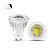 LED GU10 Dimmable 110V 220V Spotlight Bulb COB 3W 5W 7W AC85V-265V LED Spot Lamp Light Aluminum Dimming Home Lighting luminaria(China)