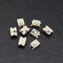 Free shipping 50PCS SMD 4Pin 3X4X2.5MM White Tactile Tact Push Button Micro Switch Momentary