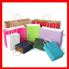 (100pcs/lot) Wholesale paper shopping bags with handles(China)