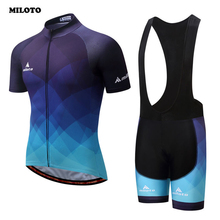 Buy MILOTO Team Summer Bike Clothing Set Men's Ropa Ciclismo Cycling Jersey & Padded Cycling, Bib Shorts Sets Blue for $23.81 in AliExpress store