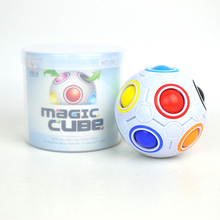 Fun Creative Spherical Magic Cube Speed Rainbow Puzzles Ball Football Kids Educational Learning Toys for Children Adult(China)