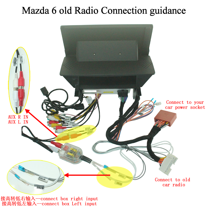Mazda 6 old radio connection guidance