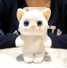 Korean mobile phone shell cat plush doll for Samsung c7 phone case Note 5 / 4 / 3 / C5 cartoon cute lanyard protective cover