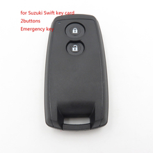 1pcs blank  key HIGH Quality 2buttons Remote Key Card Nochip with Emergency Key for Suzuki Swift Delivery In12hour