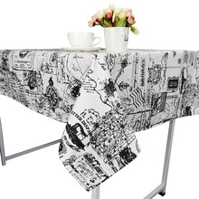 High Quality Table Cloth World Map Grain Tablecloth Cotton Linen Rustic Rectangle Washable Flax Table Cover Hot Selling(China)