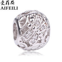 AIFEILI Silver Color Dragonfly Meadow Openwork Charms Fit Original Pandora Beads Bracelet For Women DIY Jewelry Making