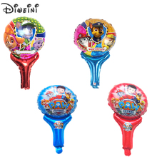 5pcs/lot 51cm cartoon kids game Patrol puppy handheld Helium foil air balloon Event toy Birthday party supplies Baloes Balls(China)