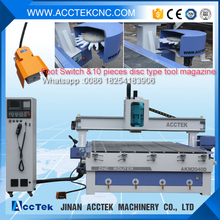 automatic tool changer cnc router,kitchen cabinet door making machine, cnc router atc woodworking machine(China)