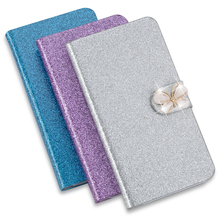 High Quality Luxury Shining Leather Flip Phone Case Cover For Sony Ericsson Xperia ray ST18i ST18 With ID Card Holder