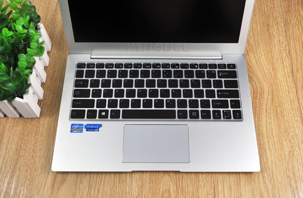 Core i7 7500U 13.3 Inch Notebook Computer Aluminium Ultrabook Backlight Keyboard Windows10 With DDR4 RAM Webcam Bluetooth Laptop