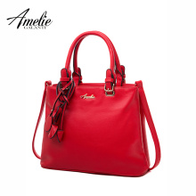 AMELIE GALANTI luxury handbags women bags designer fashion solid shoulder bag tassel saffiano pu hard zipper office lady 2017