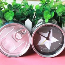 Creative Canned Metal Alarm Clock Silent Quartz Alarm Clock Cute Bedside Station Clock Home Decor Christmas Gifts(China)