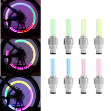 2Pcs Bike Lights Bicycle Tyre Tire Valve Caps Wheel Spokes LED Light 4 Color(China)