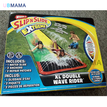 610 cm * 145 cm high quality double luxury water slide water park outdoor beach toys inflatable slide bed double surfboard