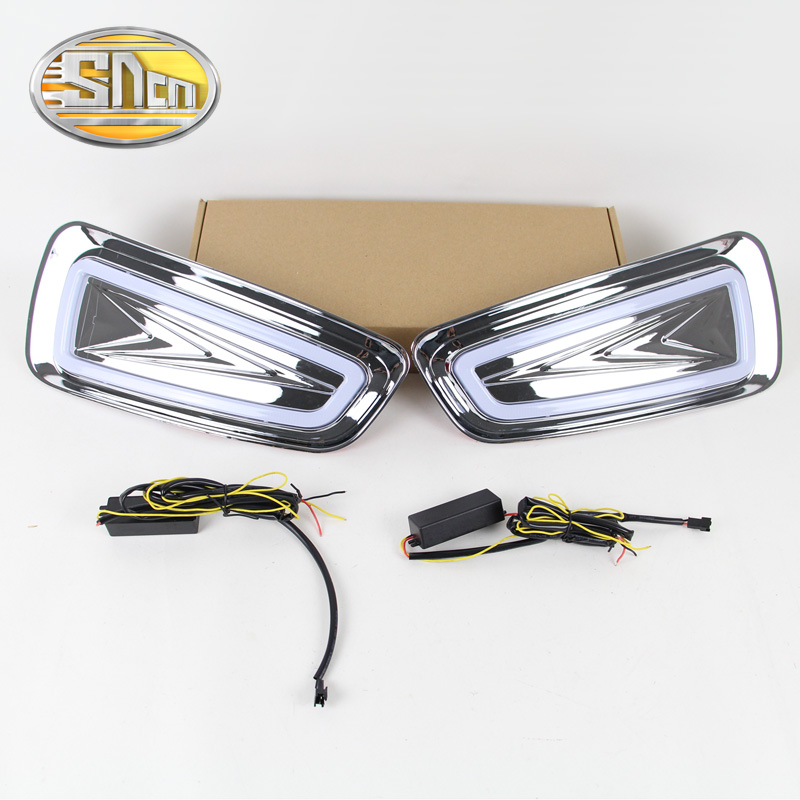 For Ford F-150 SVT Raptor 2010 - 2014,Yellow Signal Style Relay Waterproof Chromed Case Car DRL 12V LED Daytime Running Light<br><br>Aliexpress