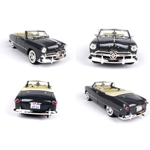 1:18 Ford 1949 Convertible Vintage Classic Car Blue/Black Zinc Alloy Car Model Gifts Toys Collections Brinquedos