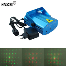 SXZM Mini Led Stage light Red&Green laser light AC110V 220V laser projector party entertainment disco fairy lighting(China)