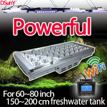 DSunY programmable free daisy-chain led aquarium light 150cm freshwater plant tank fish wifi controller lunar cycle moonlight