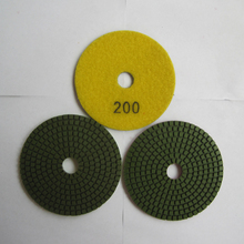 4 Inch/100mm 200# Granite Standard Diamond Flexible Wet Polishing Pad Special for Granite 10 Pcs/lot Diamond Stone Tools(China)