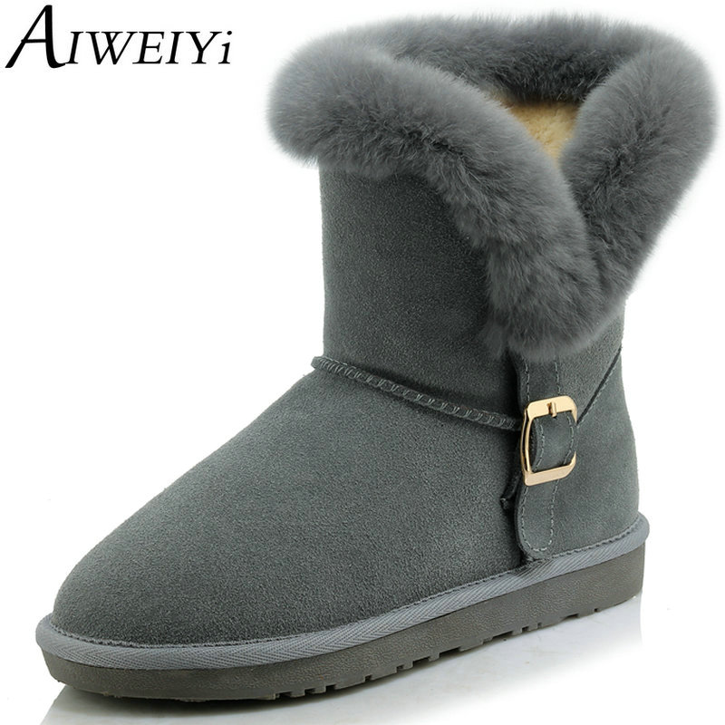 AIWEIYi High Quality Brand Snow Boots Women Fashion High Genuine Leather Australia Classic Shoes Woman Winter Snow Boots<br><br>Aliexpress