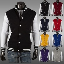 Fashion boutique men's clothing !2015 Free Shipping NWT Varsity Letterman College Baseball COTTON JACKET Men's Clothing Coats