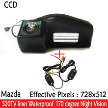 2.4G Wireless Rear View Camera Car Reverse HD Parking Camera Wide Angle Night Vision Truck Rearview Camera for Mazda 2 / Mazda 3