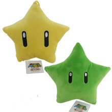 23cm 2016 new Super mario plush toy series yellow star or green star