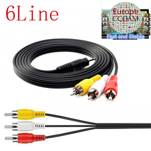 AV cable 1 Year CCcams for Satellite Receiver 6 Clines WIFI FULL HD DVB-S2 Support ccams via USB Wifi dongle