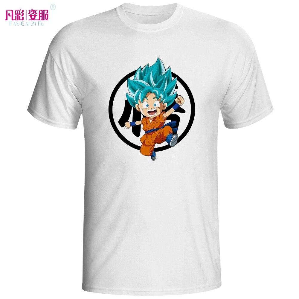 Design t shirt kid - Cute Kid Super Saiyan Blue With Goku Symbol T Shirt Creative Cool Fashion Style Tshirt Dragon