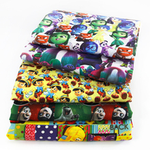 50*145CM patchwork printed Cartoon Polyester cotton fabric for Tissue Kids Bedding home textile for Sewing Tilda Doll,c457(China)