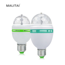 Auto Smart Rotation RGB LED Bulb lamp E27 3W 6W 85-265V Magic Ball Stage light For Home Party Dance Entertainment Decor lighting(China)