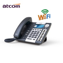 ATCOM A48W 4 SIP Line WiFi Entry-level business wireless SIP Phone, color screen IP Phone , Operator's Desktop sip phone(China)