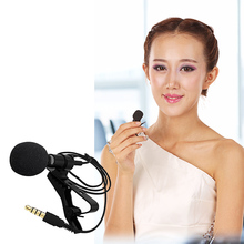 Besegad Universal Clip-on Collar Tie Mobile Cell Phone Lavalier Microphone Mic for iOS Android Laptop Recording Pen PU Pouch(China)