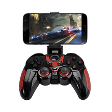 Wireless Bluetooth Game Controller Gamepad with Cell Phone Holder for iPod/iPhone/iPad and most Android system table PC