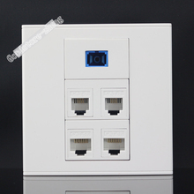 Wall Socket Plate 5 Ports 2 Ports Network LAN CAT5 RJ45 + 2 Port RJ11 Telephone Phone Jack + One SC fiber Panel Wholesale Lots