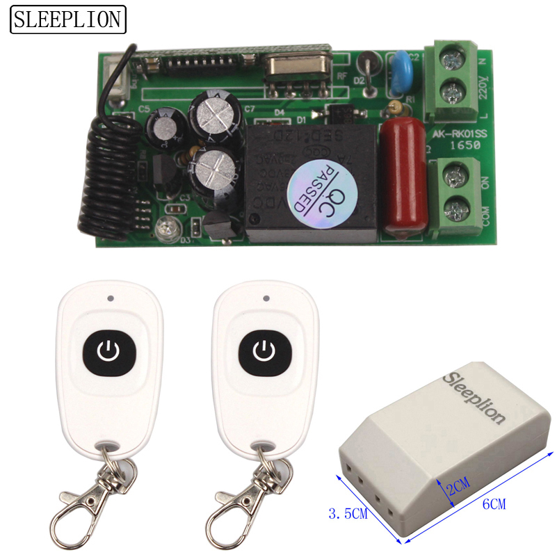 Universal Wireless Light Switch 220V Relay Receiver Module 2 Remote Controls 110V Switch 315433MHz (2)
