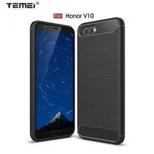 Premium Soft Brushed TPU Coque Shell New Carbon Fiber Built in Back Cellphone with Retail Packing Case for HuaWei Honor V10(China)