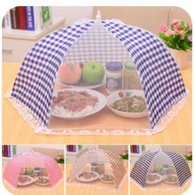 Umbrella Style Food Covers Anti Fly Mosquito Kitchen cooking Tools meal cover Hexagon gauze table mesh Tapa de alimento